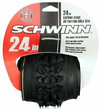 "24"" Schwinn Mountain Foldable Bicycle Tire 24"" x 1.95"" MTB Black Universal Bike"