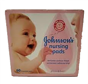 Johnsons Nursing Pads for Baby (60 Disposable Pads) Factory Sealed