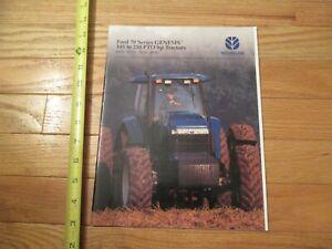 New Holland Tractor Ford 70 Series Genesis tractors Dealer sales brochure