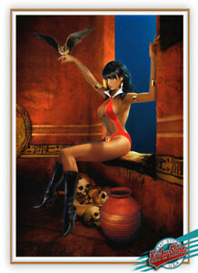 🎃 VAMPIRELLA No.19-1st.Edition Enhanced Giclee,Canvas,Signed, Painted by KOUFAY