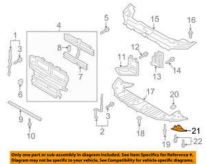 Lincoln FORD OEM Continental Radiator Support-Deflector Shield Left GR2Z16B075A