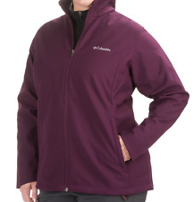NEW COLUMBIA KRUSER RIDGE SOFTSHELL JACKET WOMENS 1X PURPLE DAHLIA FREE SHIP