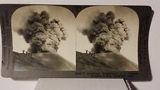 A Volcanic Eruption in Java, Vintage Keystone Stereoview