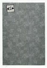 Half Scale Flagstone Paper Floor Sheet JMS06 Jackson's Miniature dollhouse