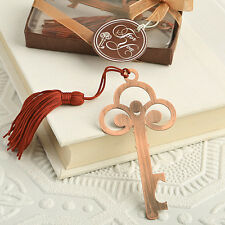 1 Vintage Copper Color Skeleton Key Bookmark Wedding Favor Classic Book Gift