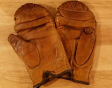 Vintage Sparring gloves Leather well worn boxing  gloves