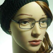 60s Rectangle Vintage Men Women Metal Frame Trendy Clear Lens Eye Glasses BLACK