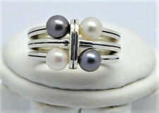 DIANA VINCENT Custom Fine Sterling Silver Modern Pearl Ring, Beautiful & Unique