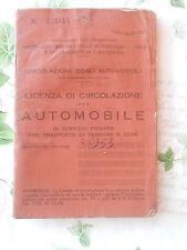 LICENZA DI CIRCOLAZIONE FIAT 500 C - 1957