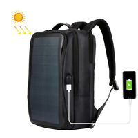 Backpack Laptop Bags with 14W Solar Panel Charger for Traveling Cycling Hiking