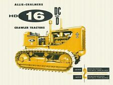 "ALLIS CHALMERS HD-16 CRAWLER TRACTOR 9"" x 12"" ALUMINUM Sign"
