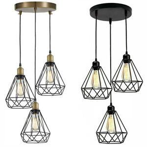 3 Head Ceiling Pendant Light Vintage Industrial Retro Suspended Lampshade Light