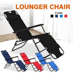 Outdoor Folding Chair Sun Lounger Recliner Beach Garden Chair Patio Camping