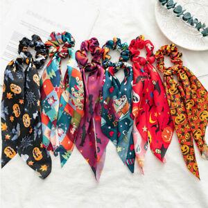 Christmas Hair Ring Elastic Hair Bands Halloween Hair Ropes Ties Hair Scrunchies