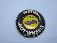 1967 Mattel Hot Wheels Red Lines PYTHON Button/Badge Hong Kong NICE
