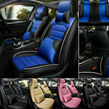 5D Car Sit Cover 5-Seats Pu Leather Front Rear Set Universal Cars Accessories Us