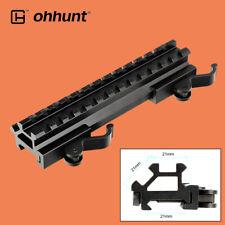 ohhunt QD Riser Mount Rail 20mm Picatinny Weaver Rail Base Aluminum Black