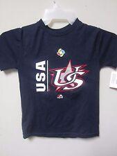 Majestic 2017 USA World Baseball Classic Navy Youth T-Shirt Size S (8)