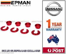 EPMAN Racing NISSAN 200SX 180SX 300ZX S13 S14 Z32 SUBFRAME BUSHING COLLARS Red