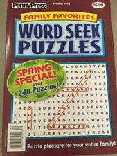 PennyPress Family Favorites Word Seek Puzzles Book 2020 Ship
