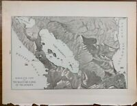 """Vintage 1902 NICARAGUA CANAL Atlas Map 14""""x11"""" ~ Old Antique GREYTOWN MANAGUA"""