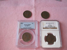 1854 1855 KOE 1856 1857 Large Cent Lot (4 Coins 1854-1857) Last 4 Years 1C