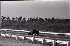 Chevrolet Chevy Corvette Funny Car Parachute Deploying - Vtg B&W Racing Negative