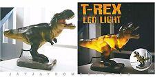 Nouveau design dinosaure t-rex lumière nuit lampe de table amusant garçons chambre d'utilisation