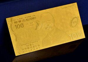 """★★ NOUVELLE ZELANDE / NEW ZEALAND : BILLET POLYMER  """" OR """" DU 100 DOLLARS ★★"""