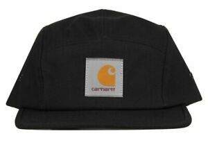 Carhartt Wip Backley Cap Black Strapback Cotton Canvas Baseball Hat