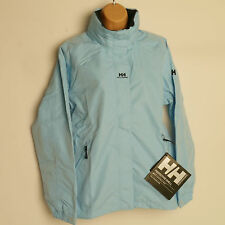 HELLY HANSEN ADEN Waterproof Jacket LIGHT BLUE Waterproof Womens Petite Medium M