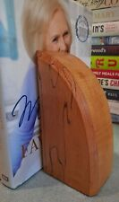 Natural Wood Arch Shape Bookends Vgc