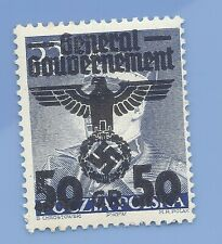 Germany Nazi Third Reich 1940 Occupation Poland Swastika Eagle 50 Stamp WW2 ERA