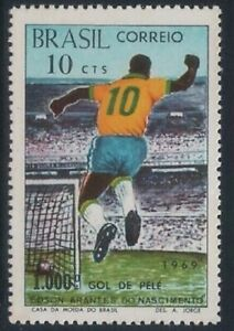 BRAZIL - 1969 Pele's 1000th Goal Football MNH