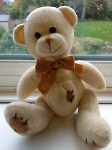 Paws Teddy Bear Soft Plush Toy. 7 ins sitting. Charity Sale Mental Health