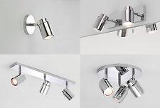 Astro Como IP44 bathroom halogen cylindrical spotlight chrome 35W GU10 options