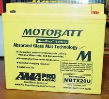 Motobatt Motorcycle Battery 12N163A ,B 12N164A 12N164B YTX20BS YTX20HB MBTX20U