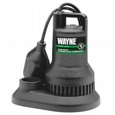 Wayne Water Systems 0.4 HP Thermoplastic Sump Pump With Tether Float Switch