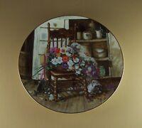 Flowers From Grandma's Garden COUNTRY CUTTINGS Plate #1 Glenna Kurz Antiques Cat