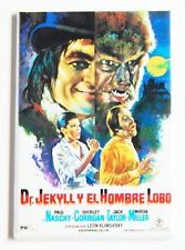 Dr. Jekyll vs Wolf Man (Spanish) FRIDGE MAGNET (2 x 3 inches) movie poster