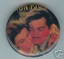 GONE with the WIND pin CLARK GABLE +  VIVIEN LEIGH pinback button