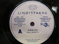 "1986 River CIty Records LIND1 7"" Vinyl 45rpm LINDISFARNE ""SHINE ON"" EX+ P/S EX+"