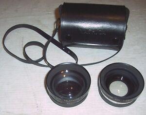 SUNTAR YASHICA 55mm AuxillaryTelephoto (1:4) & Wide Angle (1:4) Y407 Lens Set