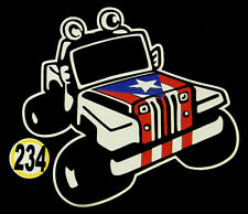 PUERTO RICO CAR DECAL STICKER JEEP  with PUERTO RICAN FLAG #234