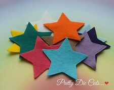 10 Felt Stars, 6cm, 2.36 inches, die cut star shape Craft Embellishments