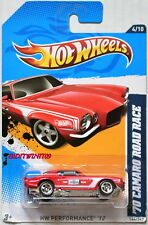 HOT WHEELS 2012 HW PERFORMANCE '70 CAMARO ROAD RACE #4/10 RED