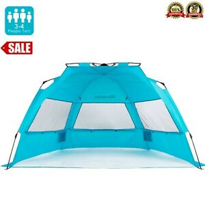 Beach Umbrella Outdoor Sun Shelter Cabana Pop-Up UV50+ Sun shade, 3-4 people