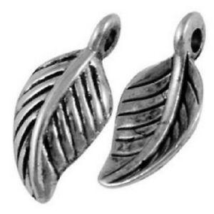 Leaf Charms Tibetan Silver Pendant Pack of 50
