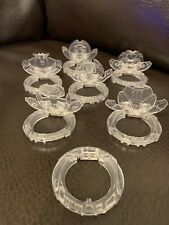 Ben 10 Clear Plastic  Crystal Topper POPup Discs & Parts for Omnitrix Set of 6