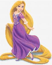 Rapunzel Counted Cross Stitch Kit Disney/Film character
